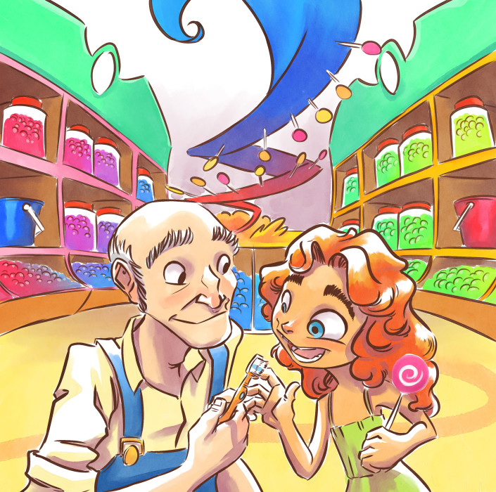 "Cover for ""Dan D's Candy"" Children's book"