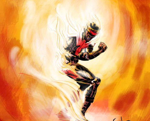 Cyclops, possessed by the Phoenix on AvX