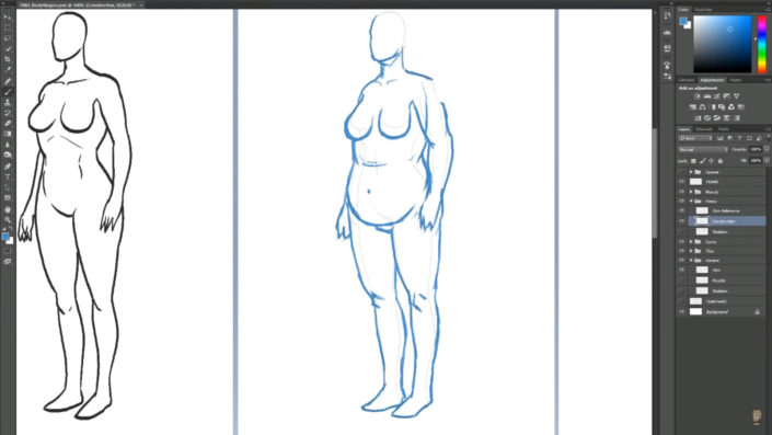 Body Types depending on Muscle of fat by Jazza